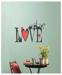 Asian Paints Love Wall Sticker - Grey