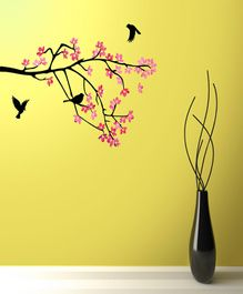 Asian Paints Hanging Dandelions Wall Sticker - Pink
