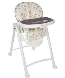 Graco Contempo High Chair Ted & Coco Print - White Grey
