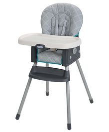 Graco Simple Switch Finch High Chair Cum Booster Seat - Grey