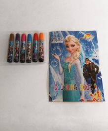 Funcart Disney Frozen Themed Colouring Book With Sketch Pens - English