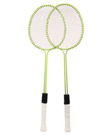 Elan Badminton Racket Set With Cover - Green