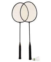 Elan Badminton Racket & Shuttlecock Set - Black