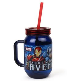 Marvel Avengers Tumbler With Handle & Straw Blue - 500 ml