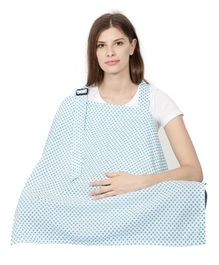 Color Fly Feeding & Nursing Cover Polka Print - Blue
