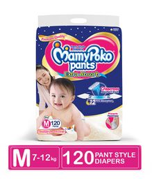 MamyPoko Extra Absorb Pant Style Diaper Monthly Jumbo PokoChan Anniversary Pack Medium Size - 120 Pieces