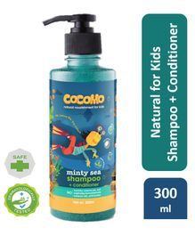 Cocomo Natural, Sulphate and Paraben Free Kids Coconut Shampoo & Conditioner - Minty Sea 300ml