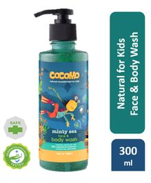Cocomo Natural, Sulphate and Paraben Free Face & Body Wash for Kids - Minty Sea 300ml