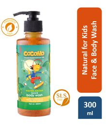 Cocomo Natural, Sulphate and Paraben Free Face & Body Wash for Kids - Earth Shine 300ml