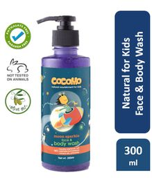 Cocomo Natural, Sulphate and Paraben Free Face & Body Wash for Kids - Moon Sparkle 300ml