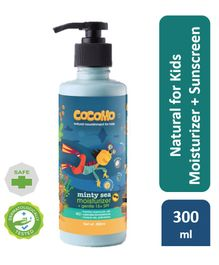 Cocomo Natural Sulphate and Paraben Free Moisturiser and Sunscreen Lotion for Kids (SPF 15) - Minty Sea 300ml