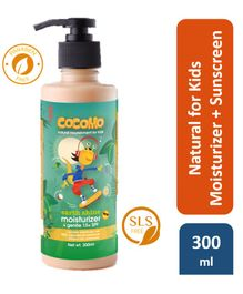 Cocomo Natural Sulphate and Paraben Free Moisturiser and Sunscreen Lotion for Kids (SPF 15) - Earth Shine 300ml
