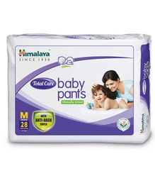 Himalaya Herbal Total Care Baby Pants Style Diapers Medium - 28 Pieces