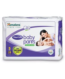 Himalaya Herbal Total Care Baby Pants Style Diapers Small - 28 Pieces