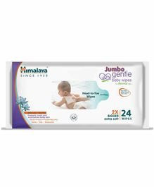 Himalaya Herbal Gentle Baby Wipes Extra Large - Pack of 24
