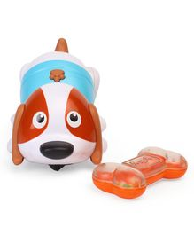 BKids Shake And Dance Puppy Toy - Blue & Brown