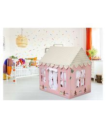 Second May Small Play House With Quilt Cupcake Design - Light Pink