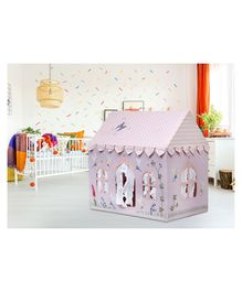 Second May Small Play House With Quilt Fairy Embroidered - Light Pink