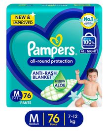 Pampers Pant Style Diapers Medium Size - 76 Pieces