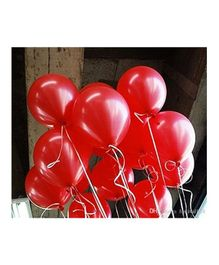 Balloon Junction Metallic Balloons Pack of 50 - Red