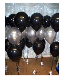 Balloon Junction Metallic Balloons Pack of 50 - Black & Silver