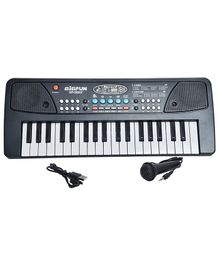 Magic Pitara 37 Keys Piano With Microphone & USB - Black
