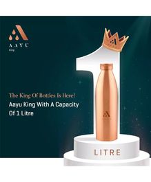 Aayu King Pure Copper Seamless Bottle - 1000 ml