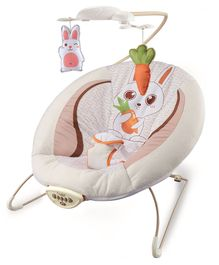 Baby Musical Bouncer Bunny Print - Off White