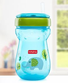 Babyhug Weighted Straw Sipper Blue - 360 ml