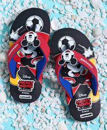 Cute Walk by Babyhug Flip Flops Mickey Mouse Print - Black