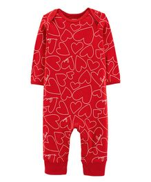 Carter's Valentine's Day Heart Jumpsuit - Red