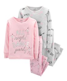 Carter's 4-Piece Ballerina Snug Fit Cotton PJs - Pink