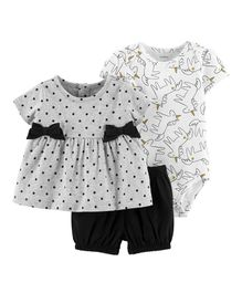 Carter's 3-Piece Unicorn Little Short Set - Grey