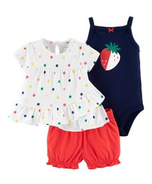 Carter's 3-Piece Strawberry Little Short Set - Multicolor