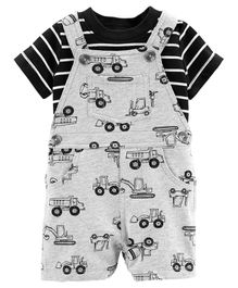 Carter's 2-Piece Construction Tee & Shortalls Set - Grey