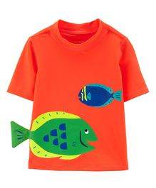 Carter's Fish Rashguard - Orange