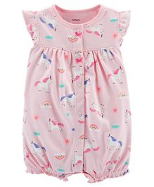 Carter's Unicorn Snap-Up Romper - Pink