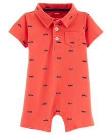 Carter's Car Polo Romper - Red