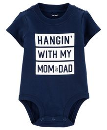 Carter's Mom & Dad Collectible Bodysuit - Navy Blue
