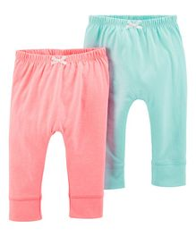 Carter's 2-Pack Bubble Pants - Pink & Green