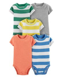 Carter's 5 Pack Striped Original Bodysuits - Multicolor