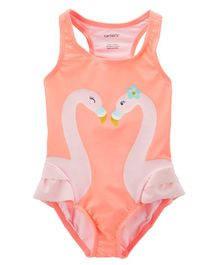 Carter's Flamingo 1-Piece Swimsuit - Peach