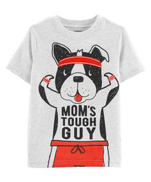 Carter's Mom's Tough Guy Dog Jersey Tee - White