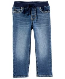 Carter's Easy Pull-On Knit Denim Pants - Blue