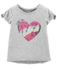 Carter's Sequin Heart Hi-Lo Tee - Grey
