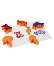 Eduedge Vehicles & Objects Sponge Stamps Pack of 15 - Orange