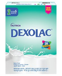 Dexolac Stage 2 Follow Up Infant Formula - 400 gm