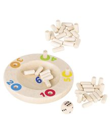 Goki Wooden Peg Game The Tricky 6 - Off White