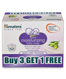 Himalaya Extra Moisturising Baby Soap Pack of 4 - 75 grams Each