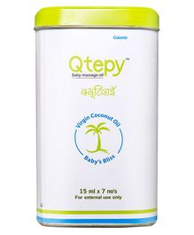 Curatio Qtepy Natural Virgin Coconut Oil Pack of 7 - 15 ml each